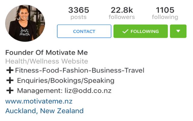 Instagram profili business