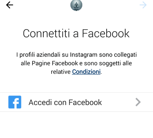 Instagram connettiti a Facebook
