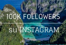 100.000 followers su Instagram