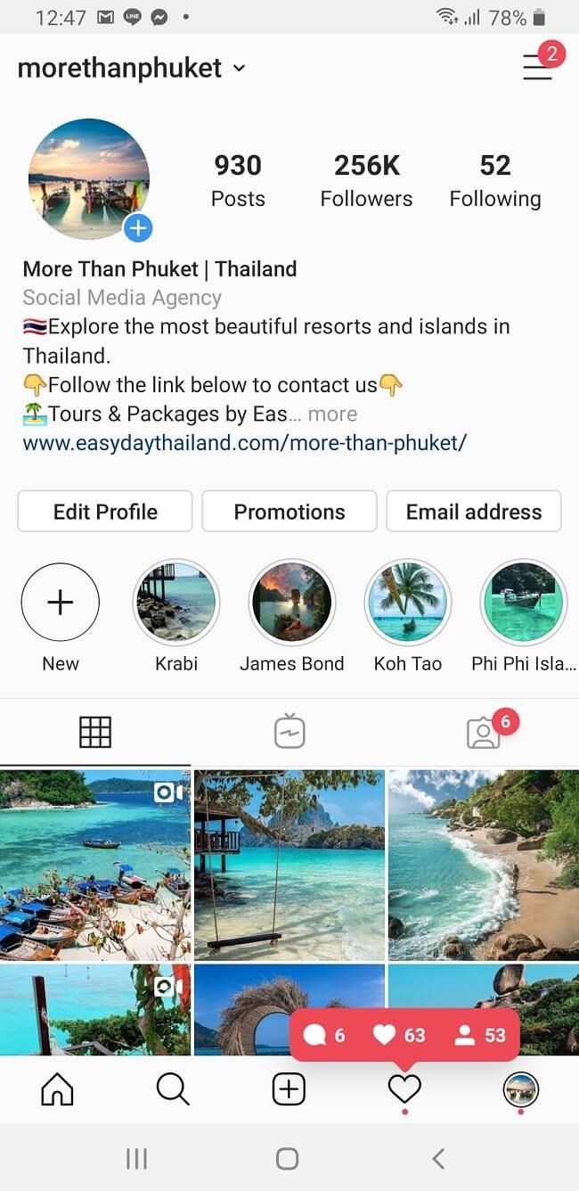 Crescita profilo Instagram