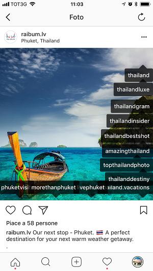 taggare su Instagram scorrettamente