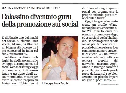 Luca Zocchi di InstaWorld La Stampa